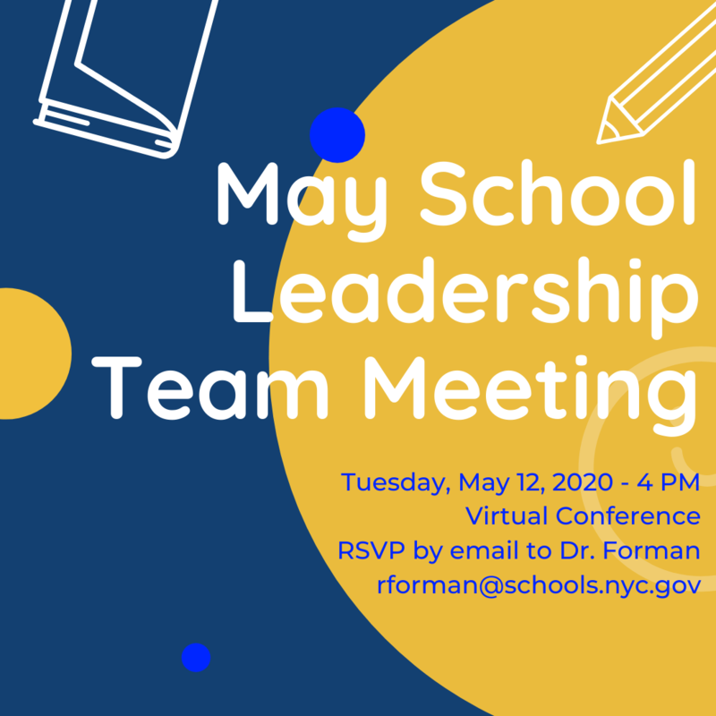 May School Team Leadership Meeting flyer