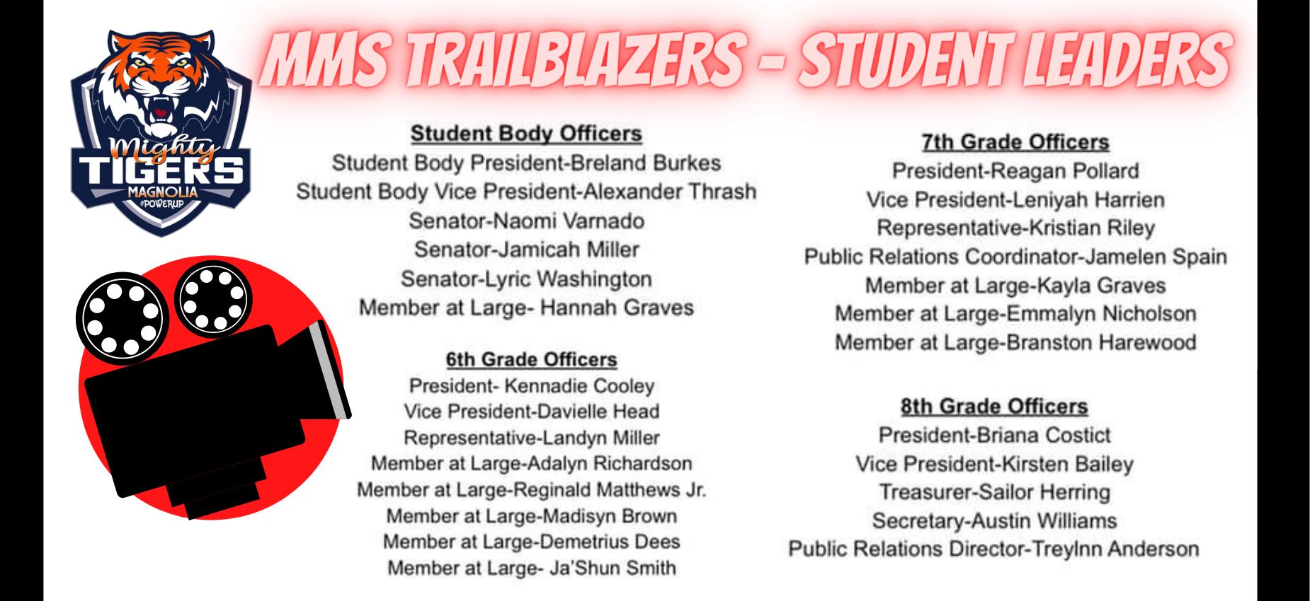 2021 - 2022 - MMS Trailblazers - Student Leaders