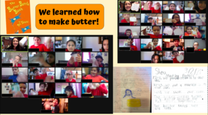 Zoom class making butter collage