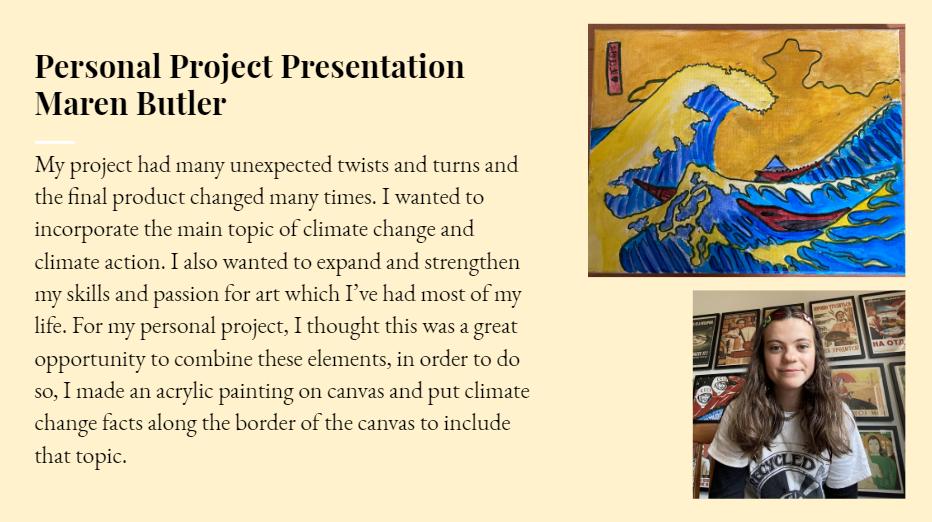 Maren's Personal Project