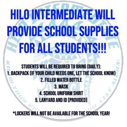 School Supplies Provided for Hilo Intermediate Students Featured Photo