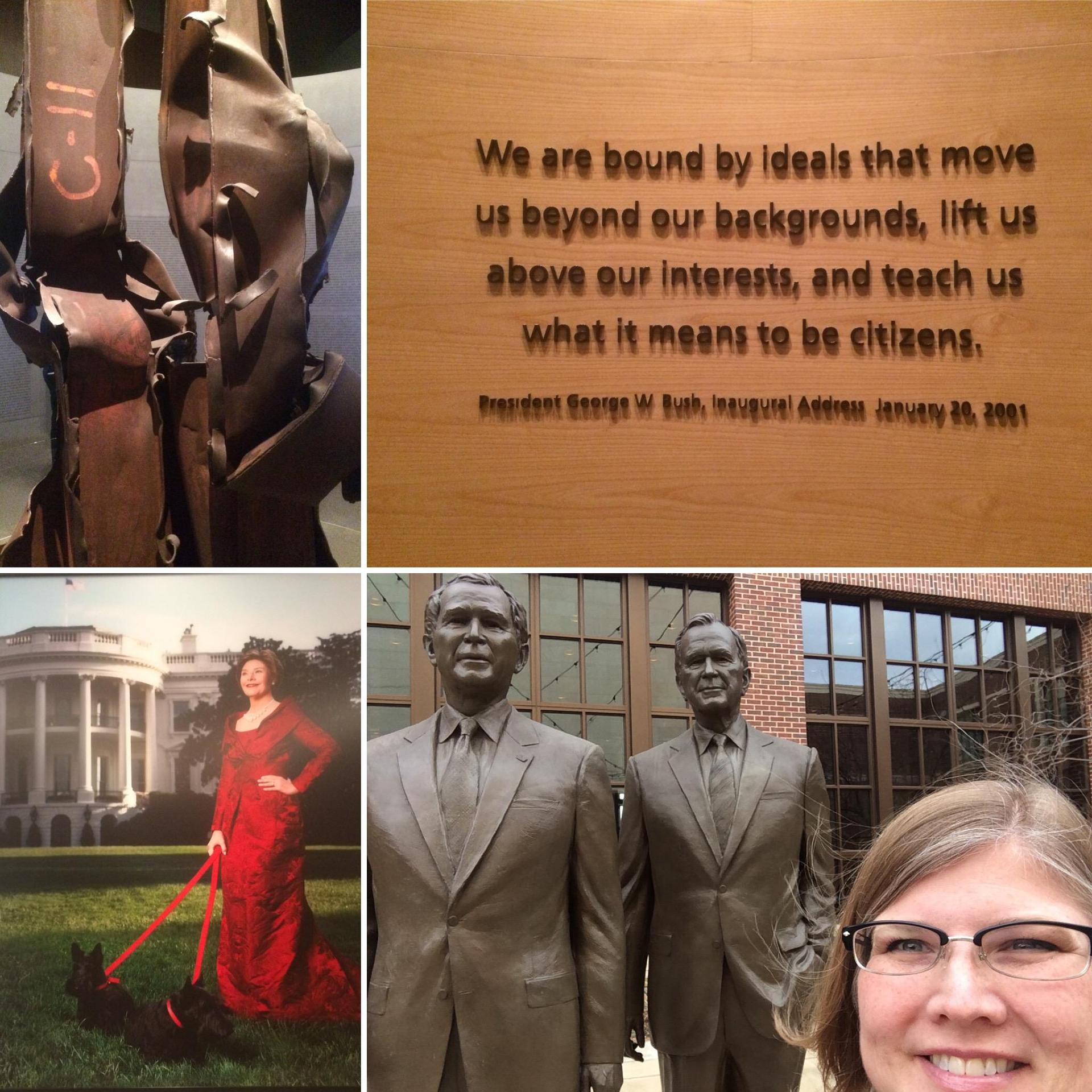 Miss Love at the  George W Bush Presidential Library