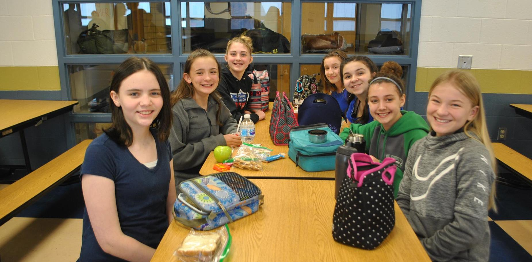 Students in lunch room