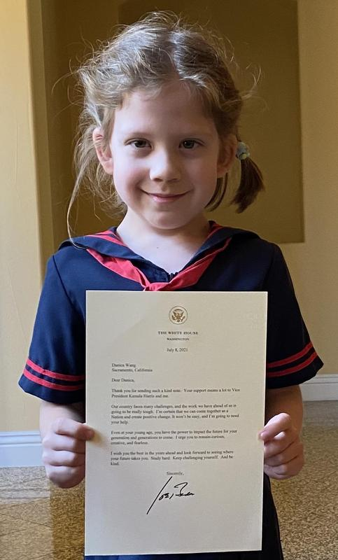Incoming 3rd Grader gets a letter from President Biden Thumbnail Image