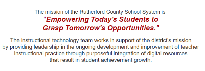 RCS Technology Department Mission Statement