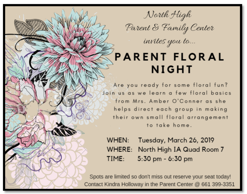 Parent Floral Workshop-March 26th Thumbnail Image