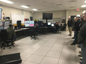 Students tour the control room