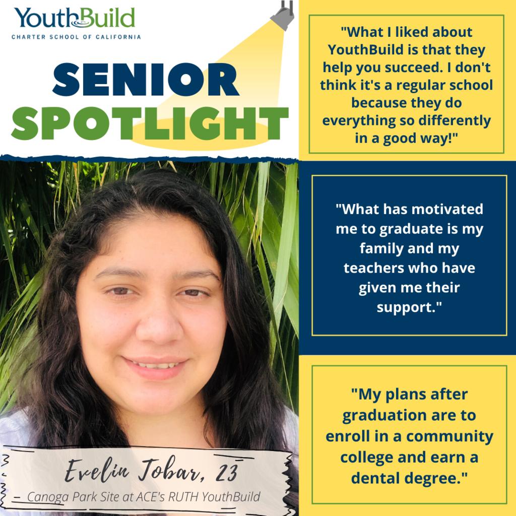 Senior Spotlight for graduate Evelin Tobar