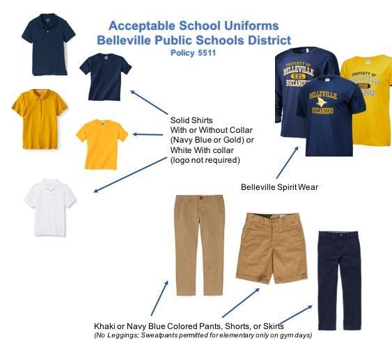 Uniforms – Parents – Belleville Public Schools