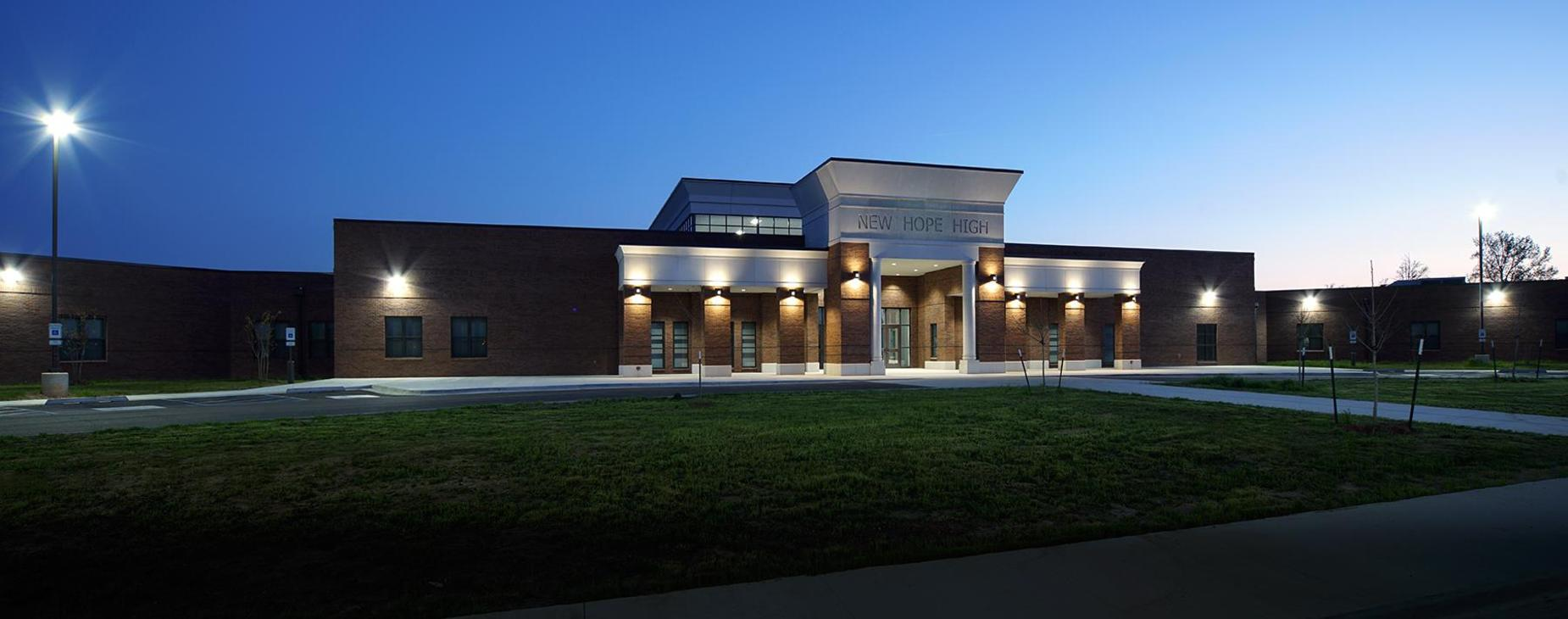 Front of New Hope High School