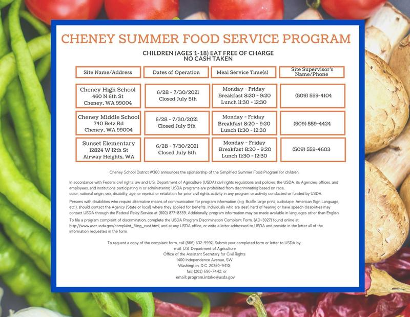 Cheney Summer Meal Program Thumbnail Image
