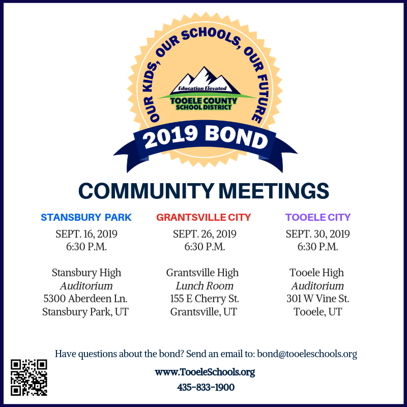 2019 School Bond - Community Meeting Schedule