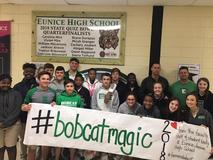 Eunice Junior High School made a special trip to Eunice High School to deliver a message of support the EHS Battling Bobcats. We can't wait to see the Bobcats dazzle us with some of their Bobcat Magic Friday night!