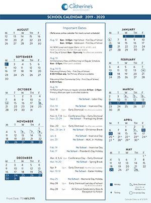 2019-2020 Calendar Now Available Featured Photo