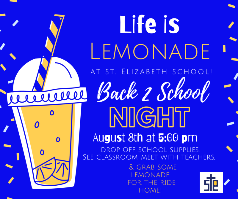 Life is LEMONADE at SES! Back to School Night! Featured Photo