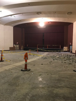 View of auditorium with seats removed. (January 2018)