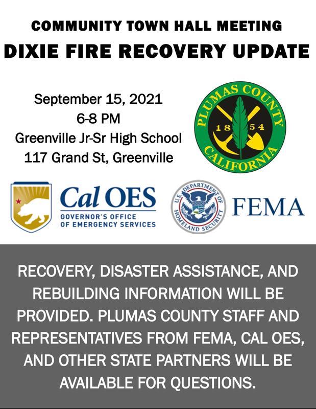 Dixie Fire Recovery Meeting 9/15/21