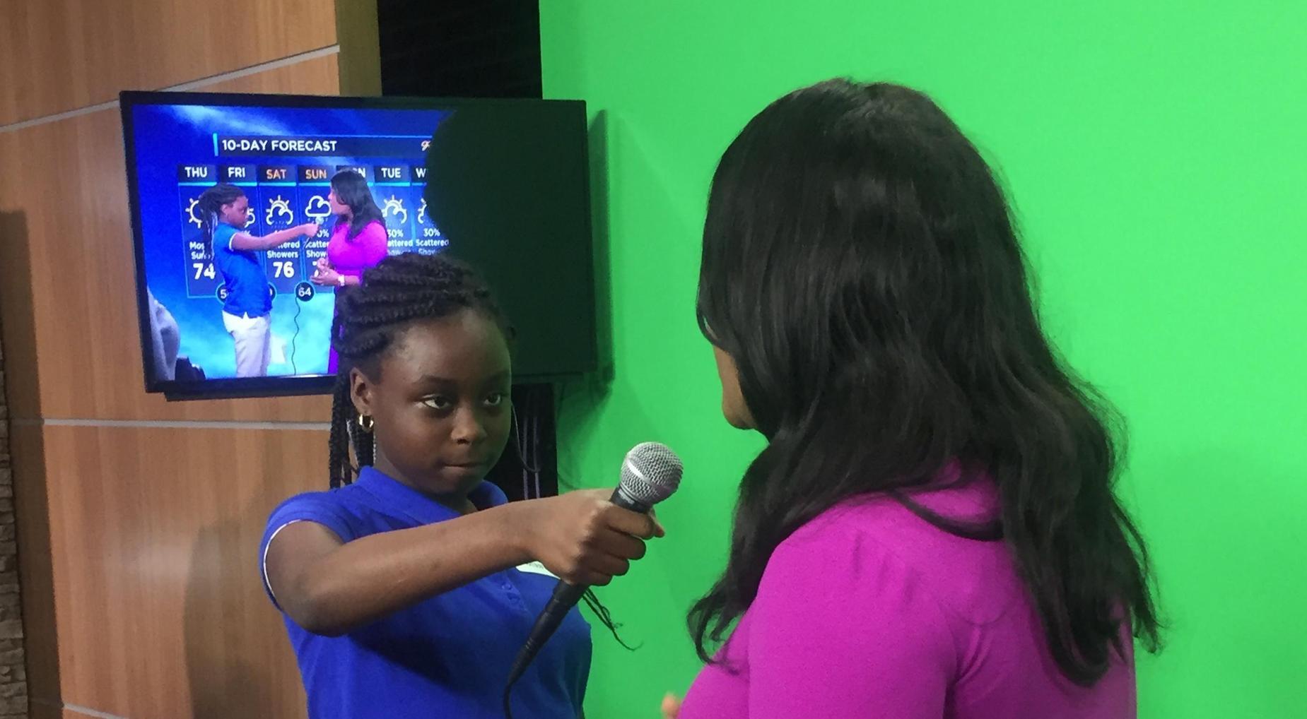 Digital Literacy Team Visits WIS-TV