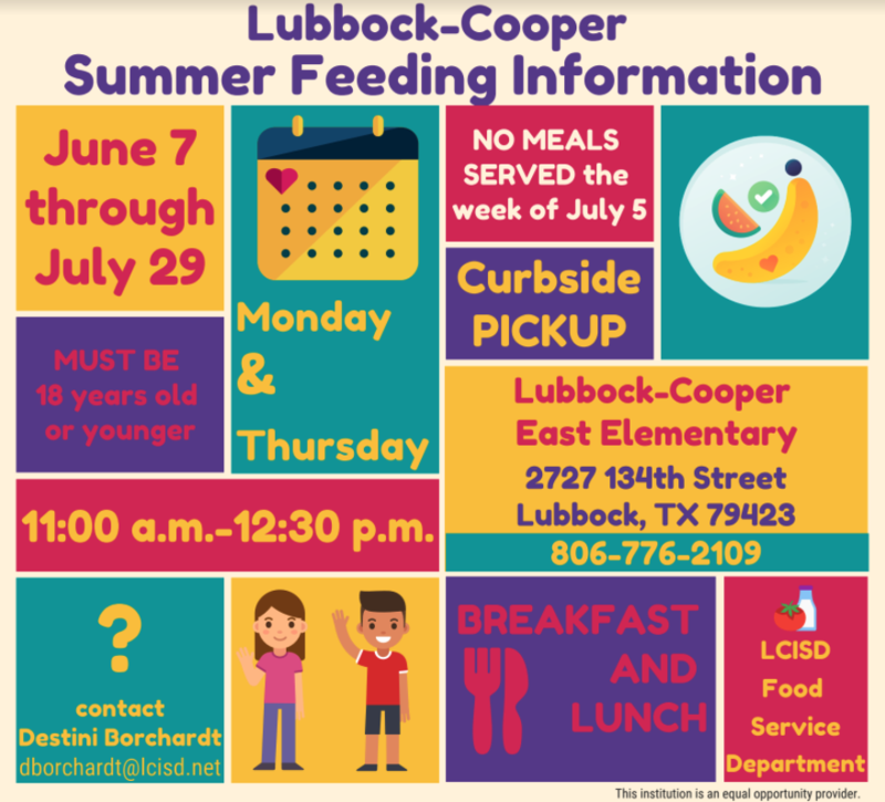 No-Cost Summer Meal Service Starting Monday, June 7 Thumbnail Image