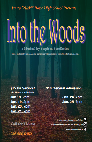 Into the Woods Poster with Showtimes