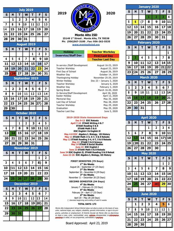 2019-2020 District Calendar Featured Photo