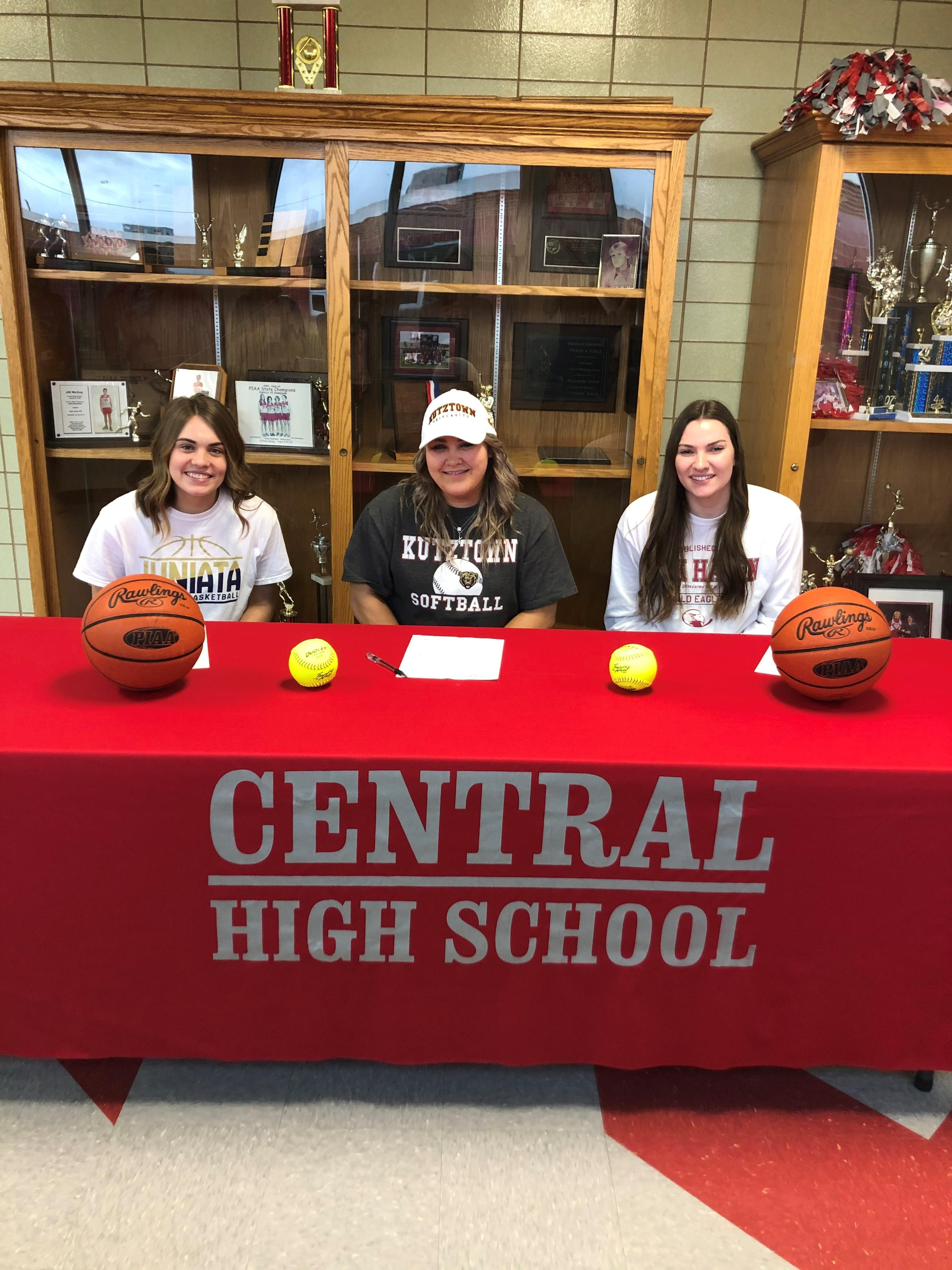 CHS Seniors Jenna Mock, Cameryn Feathers, and Kylie Metzger have all committed to continue their athletic careers in college.