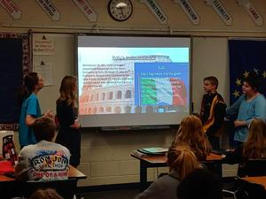 Students doing a presentation