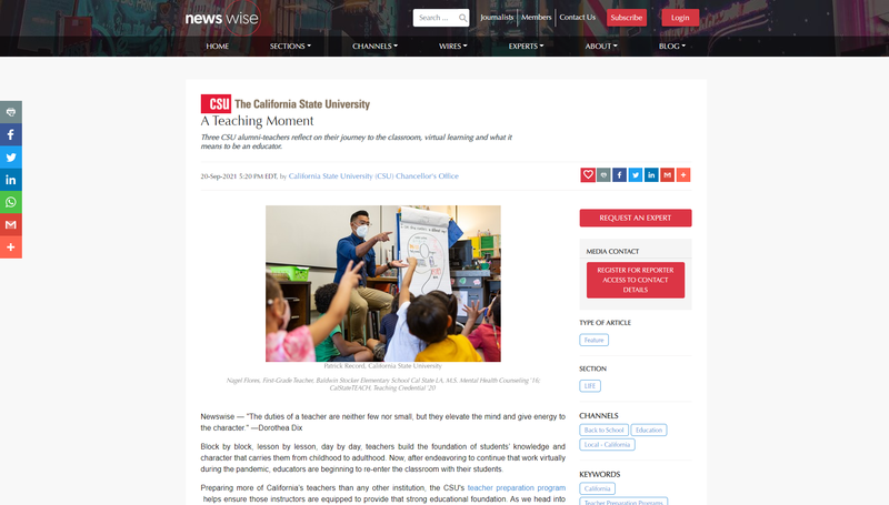 BCSD in the news: Evergreen Teacher Talks About Being a Teacher as a CSUB alumni Featured Photo