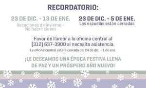 holiday reminder Spanish