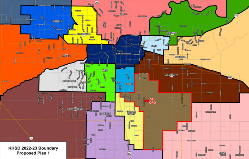 Proposed boundary map 1