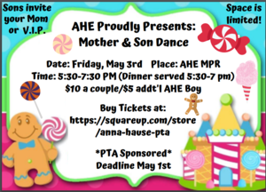 mother/son dance info