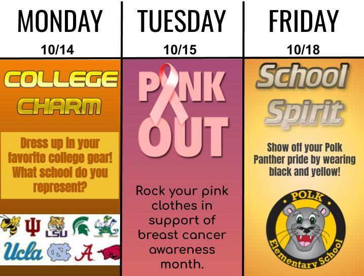 Polk Elementary Dress Up Days