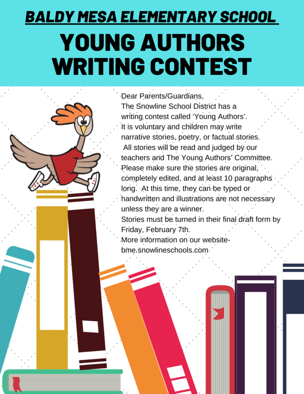 YOUNG AUTHORS WRITING CONTEST Featured Photo
