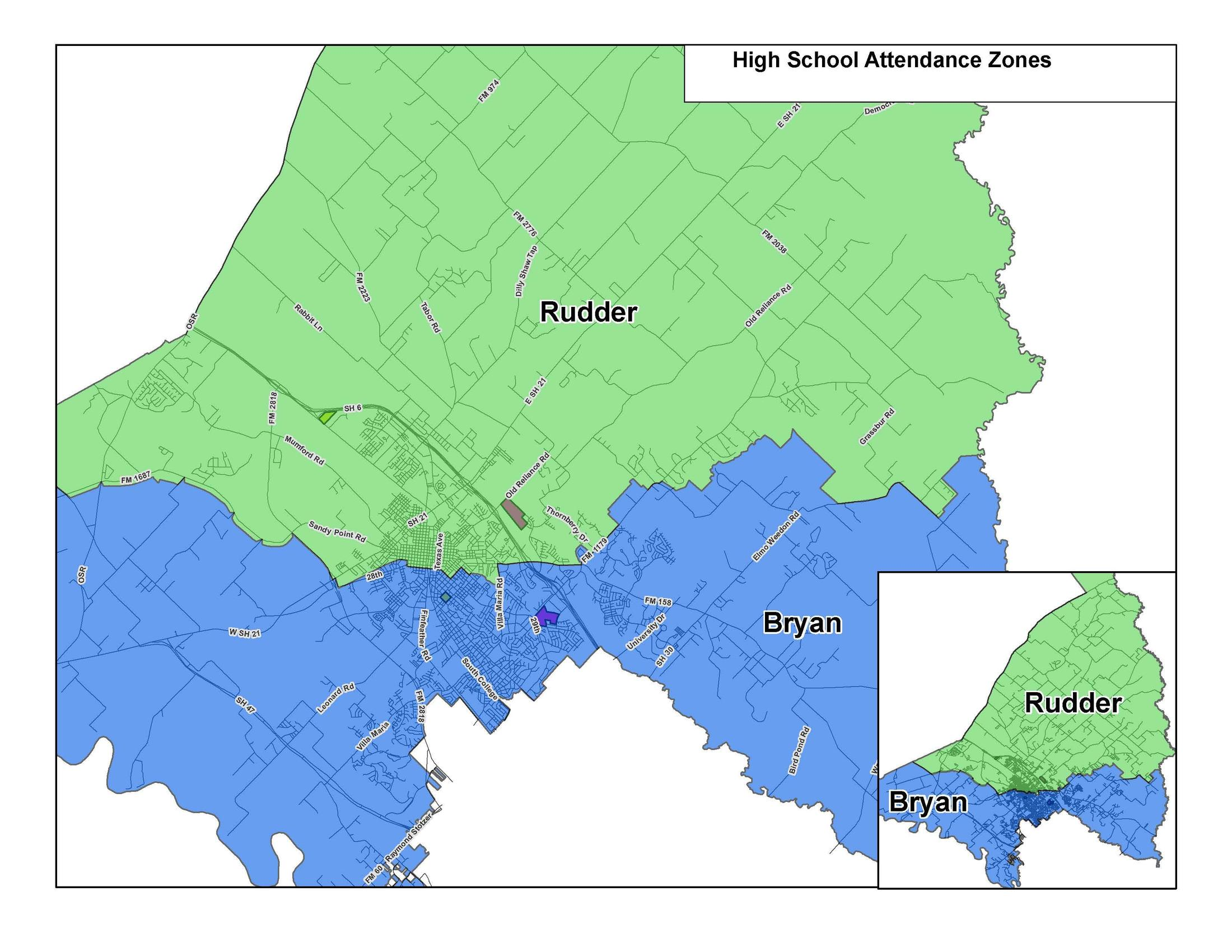 Attendance Zone Maps – School Information – Bryan Independent School ...