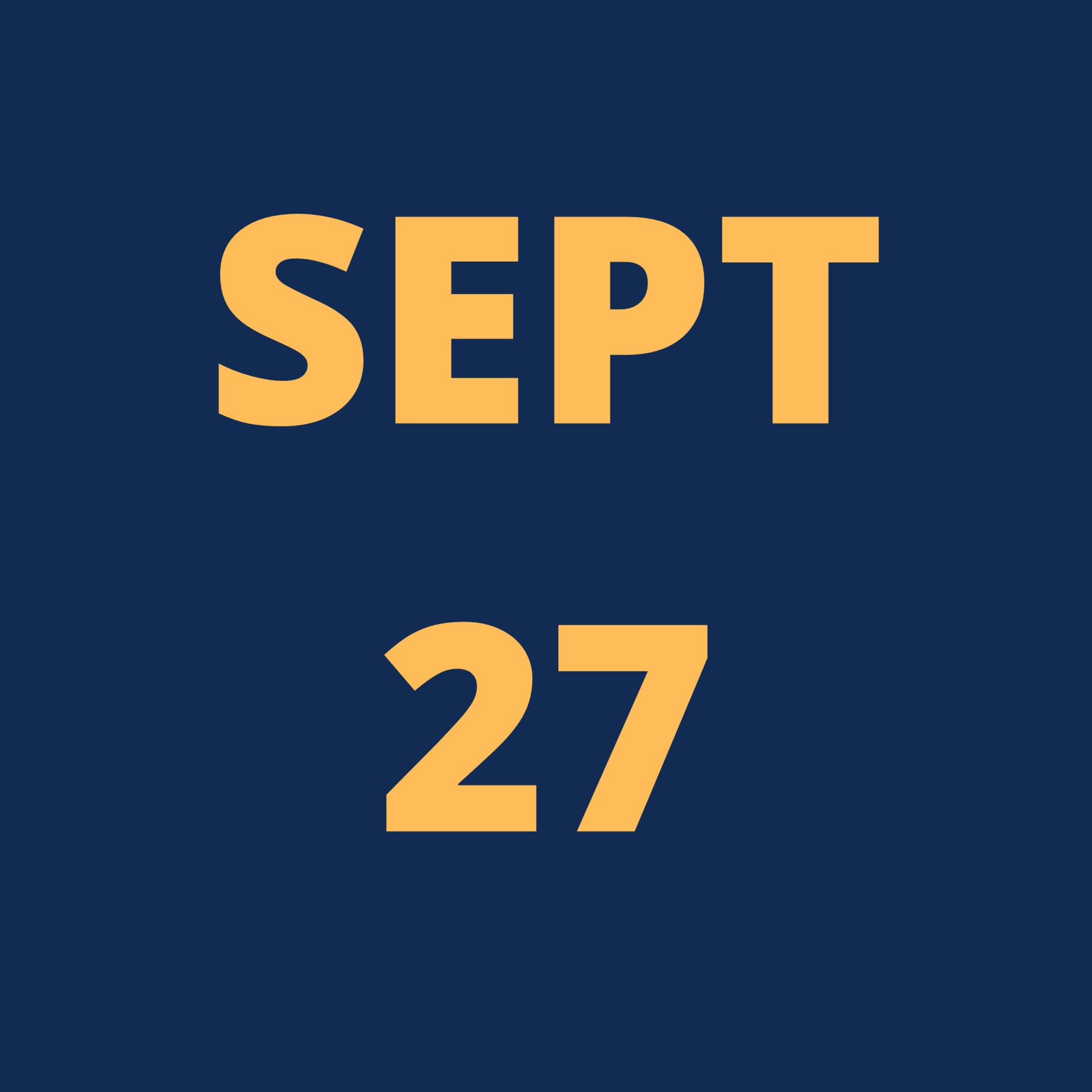 Sep 27 Icon