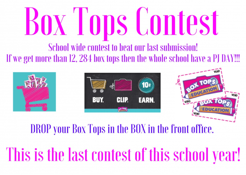 Box Tops - Last Contest for this school year! Featured Photo