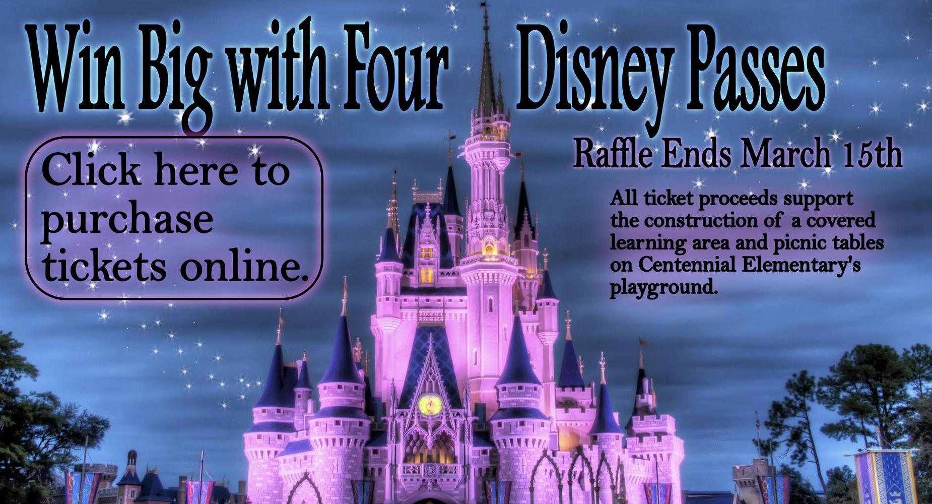 Win Four Disney Passes Raffle - Ends 3/15/19