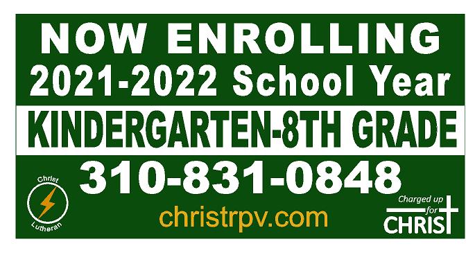 Now Enrolling Kindergarten - 8th Grade -21-22 School Year Featured Photo