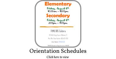 Orientation Schedules Graphic
