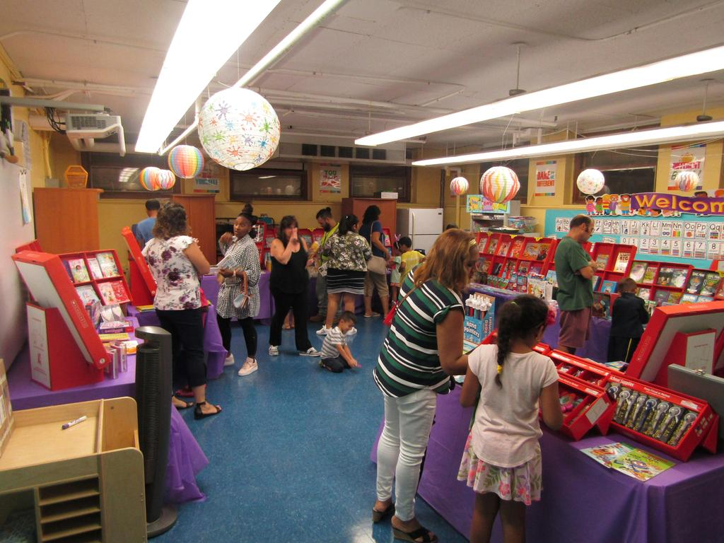 children and parents viewing this years scholastic book fair offerings
