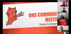 Screen shot of DHS Meeting