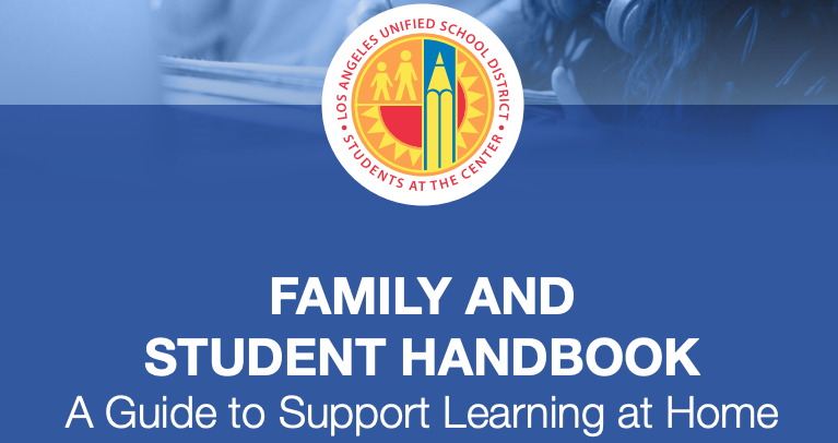 LAUSD Family and Student Handbook - Guide to Support Learning at Home Featured Photo