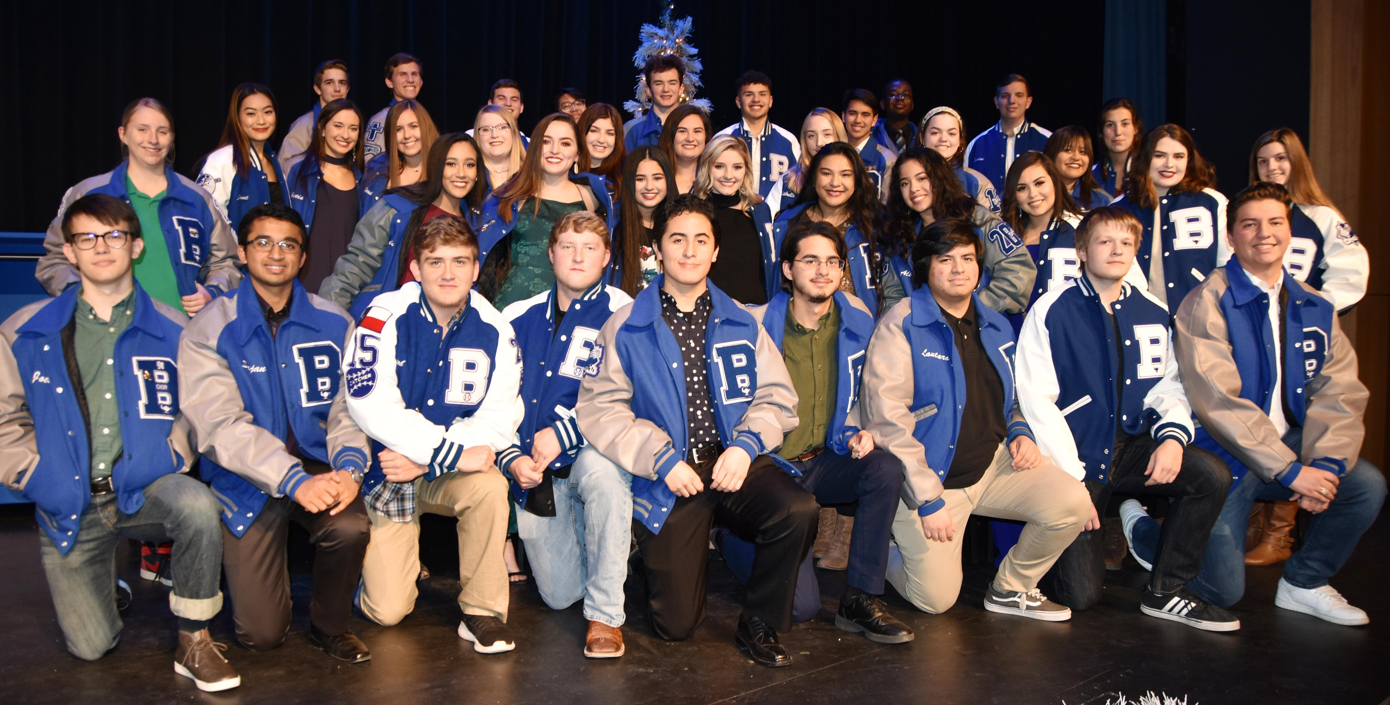 Brewer High School honored 10th through 12th graders who achieved a top 10 percent ranking for the 2017-18 school year during the Academic Letter Jacket Ceremony on Dec. 10. - Seniors