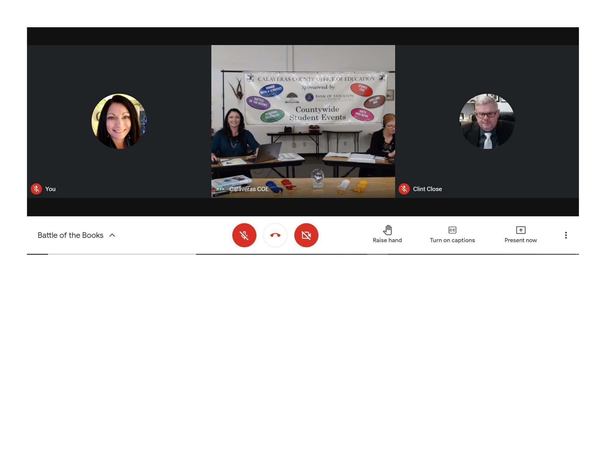 screen shot of virtual event
