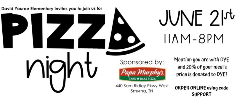 Pizza Night Papa Murphys June 21