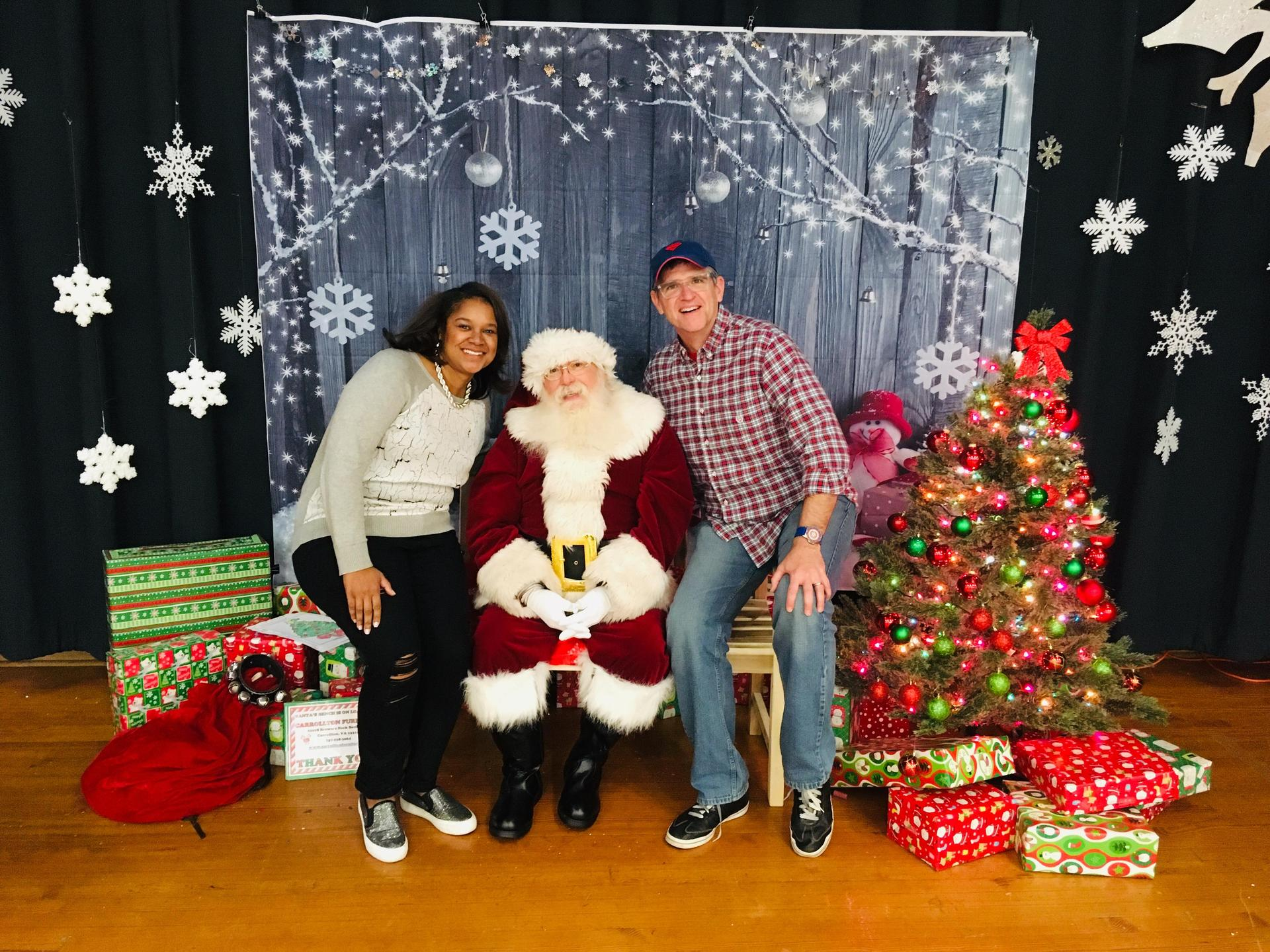 Mr. Brennan, Mrs. Buggs, and Santa