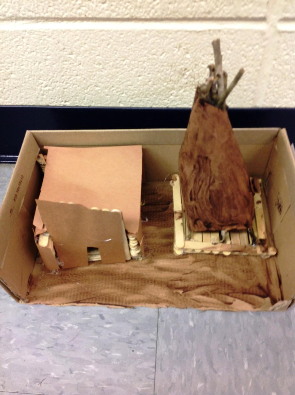 and another Native American Diorama
