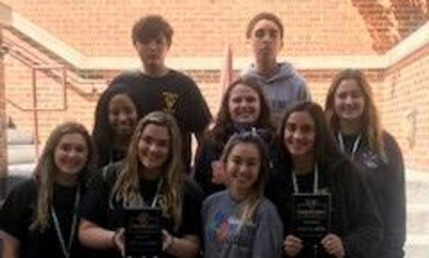 BCHS Beta Club members received awards for Outstanding Leadership School, School of Merit and School of Distinction