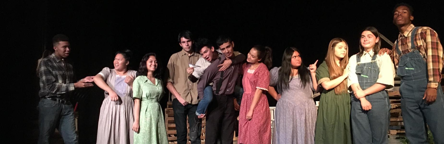High school drama scene from Diviners