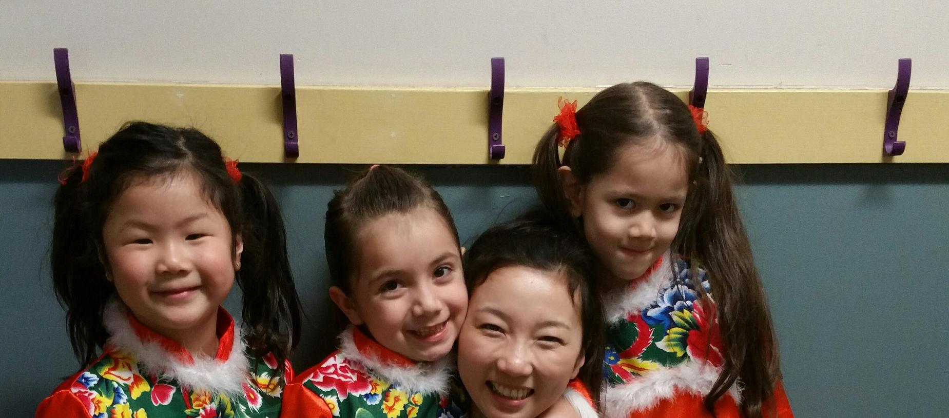 Chinese spirit day with children and teacher